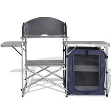 Outdoor Foldable Camping Picnic Travel Kitchen Storage Cupboard Table Bench