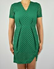 And Other Stories Emerald Green Dress Broderie Anglaise Cruise Holiday Size 8 AL