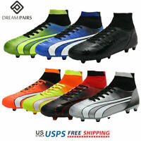 DREAM PAIRS Mens Soccer Cleats Shoes Boys Outdoor Athletic Football Sneakers