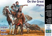 Master Box MB 1/35 35189 On the Great Plains (Indian Wars) (2 Figures & 1 Horse)