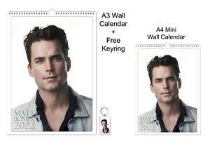 Matt Bomer 2022 A3 A4 Wall Office Calendar + Key Ring