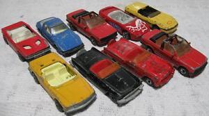 Lot of 9~1970's-90's~Matchbox~Convertibles