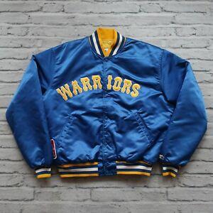 Vintage Rare 90s Golden State Warriors Satin Jacket by Starter Size XL