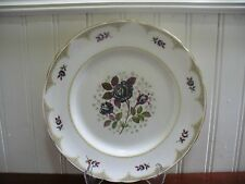 "Tuscan Fine English Bone China Midnight Rose 8.25"" Buffet Plate"
