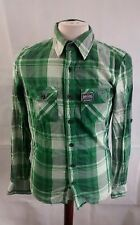 """Superdry Shirt. Green. Check style. 18"""" pit-to-pit, 27"""" length, Medium."""
