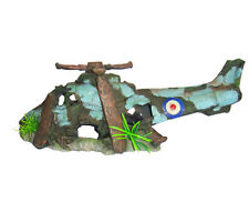 Helicopter Wreck  Aquarium Ornament Hide Cave Military Wreck Aircraft - Medium