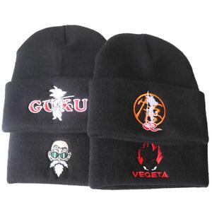 Dragon Ball Son Goku Beanie Hat Mens Winter Warm Knitted Hat Skullies Cosplay