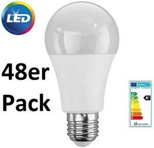 48er Pack Livarno Lux LED-Lampen Birne 60 W 810 Lumen, E27 RA97 2700K Warmweiß