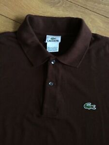 Lacoste Mens Polo Shirt .. Size 6 UK XL .. Brown