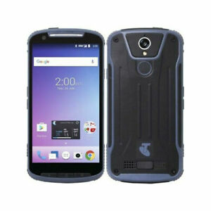 ZTE T85 Tough Max 2 Blue 4G LTE Unlocked IP67 Rugged Perfect Condition Free Ship