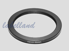 62mm-52mm 62-52 Filter Adaptor Ring Converts 62mm lens thread to 52mm Step-Down