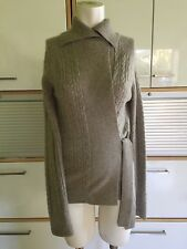 Women's M Park Vogel Cashmere Double thick Beige Oatmeal Wrap Cardigan Sweater