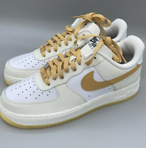 """Nike Air Force 1 Low """"Nike By You"""" Ivory Gold CT7875-994 Men's 10.5"""