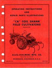 Allis Chalmers CA Coil Shank Field Cultivators Operating & Parts Manual kpc1