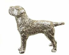 Border Terrier  Brooch, Silver Plated