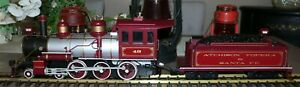 Bachmann Big Haulers AT&SF Red Comet G Scale Steam Locomotive and Tender TESTED