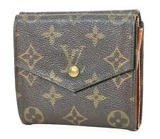 Auth VTG LOUIS VUITTON Double Snap Monogram Bifold Wallet and Coin Purse #38108A