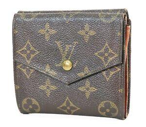 Auth VTG LOUIS VUITTON Double Snap Monogram Bifold Wallet and Coin Purse #38108A