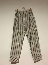 Brand New Mango Striped Linen Oatmeal Pants 36