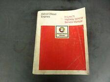 Detroit Diesel In-Line 71 Highway Vehicle Service Manual