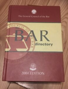 The General Council of the Bar Directory 2001 Edition  Law Book