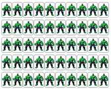 """50 Incredible Hulk Envelope Seals / Labels / Stickers, 1"""" by 1.5"""""""