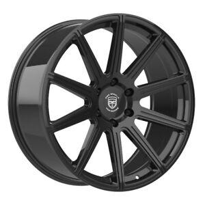 4 G42 MOD 22 inch Gloss Black Rims fits NISSAN ARMADA 2004 - 2018