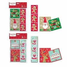 Pack of 6 Contemporary Christmas Gift Holder Box for Small Gifts or Gift Cards