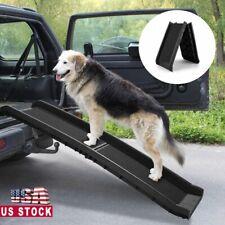 Bi-fold 62'' Portable Dog Ramp for Large Pet Folding Trunk Back Seat Ladder Step
