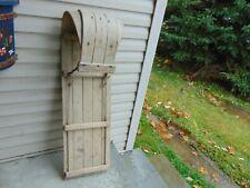 """vintage,  wooden  snow  toboggan   37 """"   nice  # 7906"""