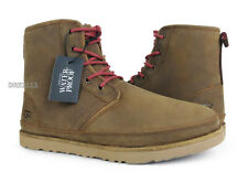 UGG Harkley Waterproof Grizzly Leather Fur Boots Mens Size 13 *NIB*