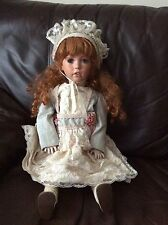 "Large 26"" Beautiful Redhead Girl Porcelain Rubert Shay Head Doll."