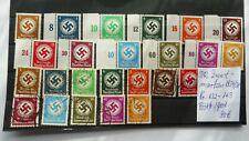 DR  Dienstmarken Nr.132-143 Postfrisch u. gestempelt