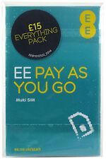 EE £15 Pack Sim Card - Standard/Micro/Nano all in one (Buy 1 Get 2 Free)