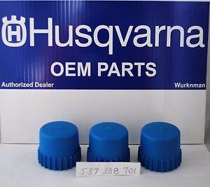 "3 pack Husqvarna OEM  537338701 2"" Tap Advance Bump Knobs for T25 Trimmer Head"