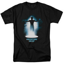 Quantum Leap First Jump T Shirt Licensed Sci-Fi Tv Time Travel Show Tee Black