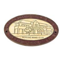 .SOLID METAL CAR BADGE, 1997 EASTER RALLY MILDURA VINTAGE VEHICLES CLUB INC.