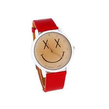 Womage A139 Orologio analogico - quadrante con faccetta sorridente (rosso)
