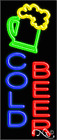 """NEW """"COLD BEER"""" 32x13 W/LOGO VERTICAL REAL NEON SIGN w/CUSTOM OPTIONS 10969"""