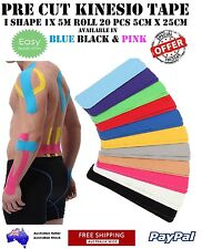 Easy Application PRECUT Kinesiology Kinesio Tape BLACK KT ROCK sports tape