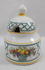 Villeroy & and Boch BASKET jam / honey / preserve pot bowl with lid