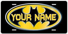 BATMAN LICENSE PLATES Personalized Full Color Novelty Front Tag Any Name Added