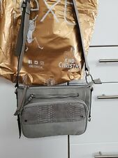 Ladies next handbags nwtgs grey suede and leather across the body style fab