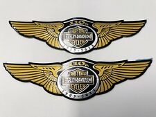 Harley Davidson logo 110 year Badge Gas Fuel Tank Emblems Just peel stick HD New