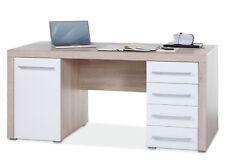 Schreibtisch Computertisch Arbeitstisch Schublade Eiche Sonoma Hochglanz CELLA