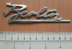 BERLIN GERMANY DDR VINTAGE MOTOR MOPED MOTORCYCLE BADGE SIGN PLATE LOGO DEUTSCHE