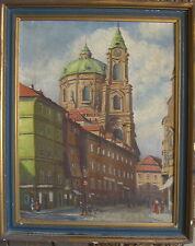 :: église Dom baroque construction mais où? salzbourg vienne??? ancien peinture huile/lb