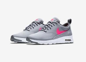Nike Kid's Air Max Thea Grey/Pink Sz 7y 814444-002 Running Shoes