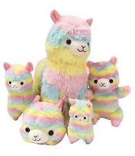KAWAII RAINBOW Alpaca Plush Bundle Cute Pastel Llama Puppet Purse SALE Lot