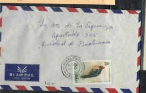 BELIZE COVER (P0807B) 1979 QEII 35C BIRD PUNTA GORDA TO GUATEMALA